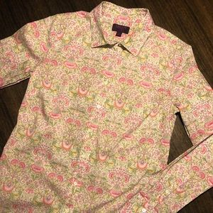 NWOT Liberty Art Fabrics for J Crew Shirt
